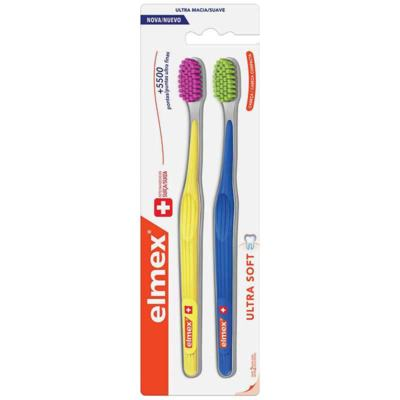 Escova Dental Elmex Ultra Soft - Macia   2 unidades