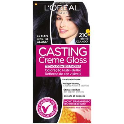 Tintura Semi-Permanente Casting Creme Gloss - 210 Preto Azulado | 1 unidade