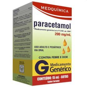 Paracetamol Gotas Genérico Medquimica - 200mg/ml   15ml