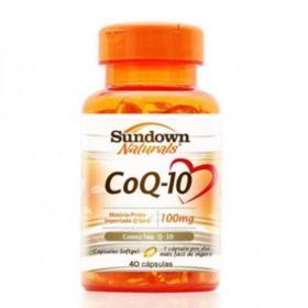 CoQ-10 Coenzima Q10 Sundown - 100mg | frasco com 40 cápsulas
