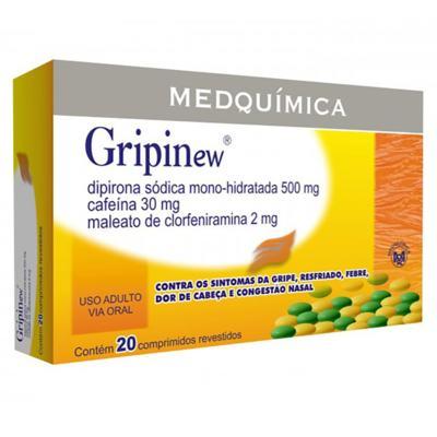 Gripinew - 250mg + 30mg + 250mg + 2mg   20 comprimidos revestidos