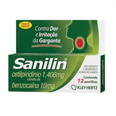 Sanilin - Menta | 12 pastilhas