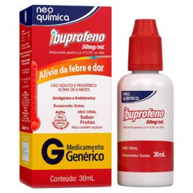 Ibuprofeno Gotas Genérico Neo Quimica - 50mg/ml | 30ml