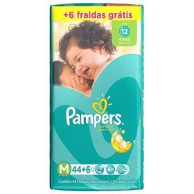 Fralda Pampers Total Confort - M | 50 unidades | Gratis 6