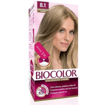 Kit Tintura Biocolor Mini - Louro Acinzentado Estiloso 8.1 | 50g