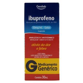 Ibuprofeno Gotas Genérico Geolab - 50mg/ml | 30ml