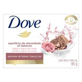 Sabonete Dove Barra - Equilibrio Da Oleosidade Argila E Agua De Rosas | 90g