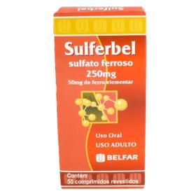 Sulferbel - 250mg   50 comprimidos revestidos