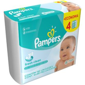 Toalhinhas Umedecidas Pampers - Fresh Clean | 192 unidades