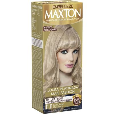 Kit Maxton Coloração Creme - Louro Super Claro 11.11 | 50g