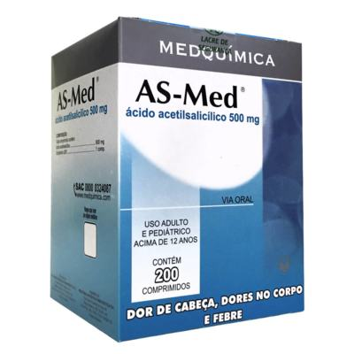 As-Med - 500mg | 10 comprimidos