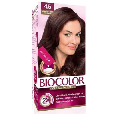 Tinta de Cabelo Biocolor - Acaju Escuro Poderoso 4.5 | 125g