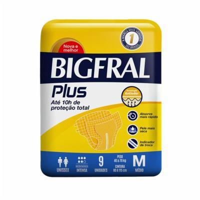 Fralda Geriatrica Bigfral Plus - G e M | 9 unidades