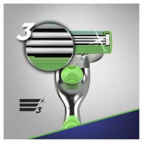 Carga Para Aparelho de Barbear Gillette - Mach3 Sensitive   3 unidades   Leve 3 Pague 2