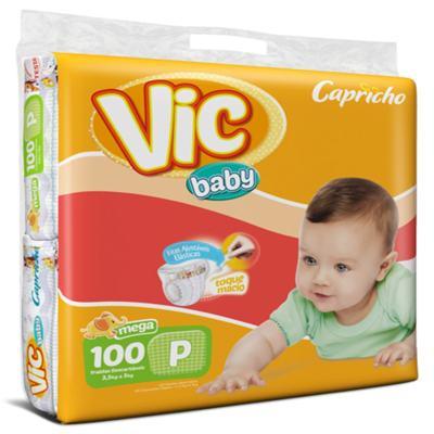 Fralda Vic Baby  Mega - P | 100 unidades