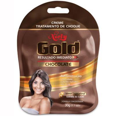 Creme Niely Gold Tratamento De Choque - Cholcolate | 30g