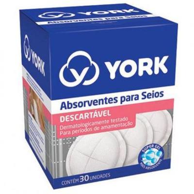 Absorventes Para Seios York - 30 unidades