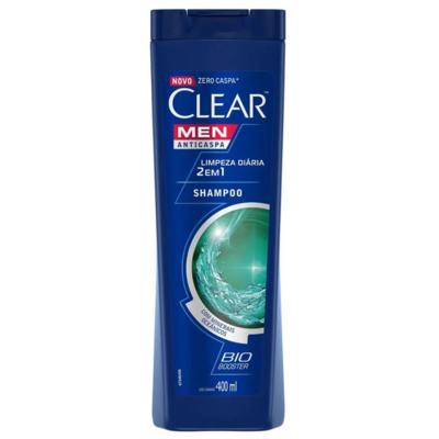 Shampoo Clear Anticaspa - Men 2 Em 1 Limpeza Diaria | 400ml