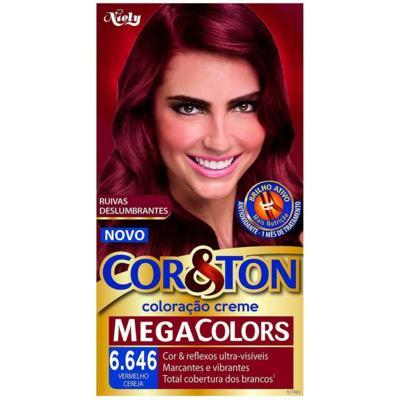 Coloração Cor & Ton Mega Colors 6.646 - Vermelho Cereja