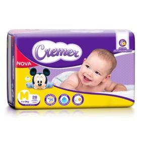 Fralda Cremer Disney Baby Pratica - M | 28 unidades