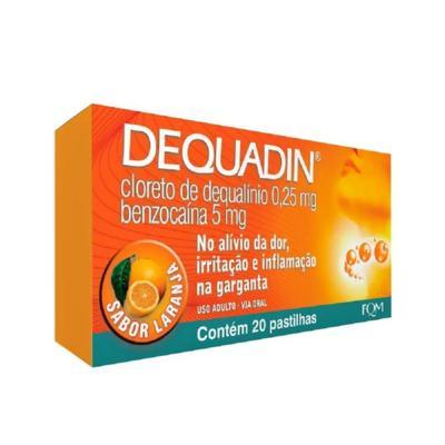 Dequadin Laranja - 0,25mg/5mg | 20 pastilhas