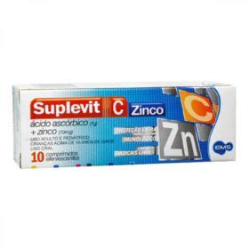 Suplevit C Zinco - 10mg + 1mg | 10 comprimidos efervescentes