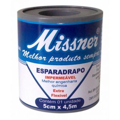 Esparadrapo Missner Impermeável - 5cm x 4,5m | 1 unidade