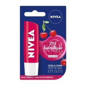 Protetor Labial Nivea - Shine cereja, FPS10 | 4,8g