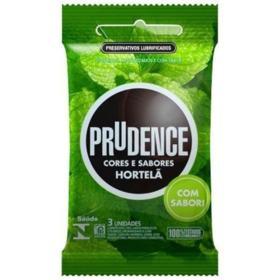 Preservativo Prudence Cores e Sabores - Hortelã   3 unidades