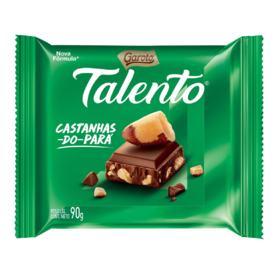 Chocolate Talento Garoto Castanhas Do Para 90g