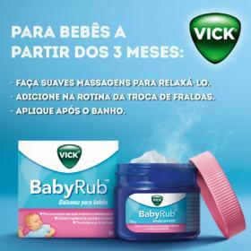 Vick BabyRub - Bálsamo Para Bebês | 50g