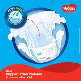 Fralda Huggies Turma da Mônica Tripla Proteção - P | 60 unidades