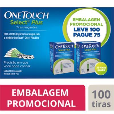 ONETOUCH SE PLUS TIRAS TESTE LEVE 100 PAGUE 75 x 100