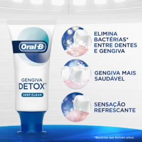 Creme Dental Oral-B Gengiva Detox - Deep Clean | 102g