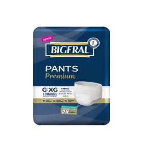 Roupa Íntima Bigfral Pants Premium - G/XG   8 unidades