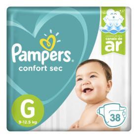 Fralda Pampers Confort Sec - G   38 unidades