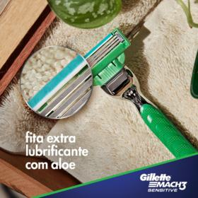 Carga para Aparelho de Barbear Gillette Mach3 - Sensitive | 4 unidades | Leve 4 Pague 3