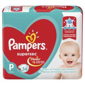 Fralda Pampers Supersec - P | 34 unidades