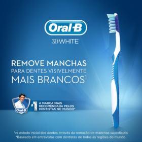 Escova Dental Oral-B 3D White Advantage - 35 Macia   Leve 2 Pague 1