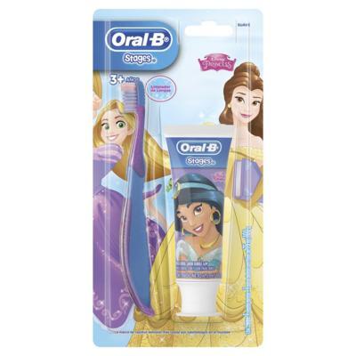 Kit Escova Dental Infantil Oral B - +3 anos   1 unidade   + Creme Dental Stages 75g