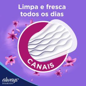 Protetor Diário Always - Com Perfume | 15 unidades