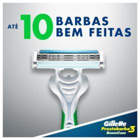 Kit Aparelho de Barbear Gillette Prestobarba 3 Sensecare 4 Unidades + Grátis Aparelho de Depilação Gillette Venus Sensitive 1 Unidade - 1 kit