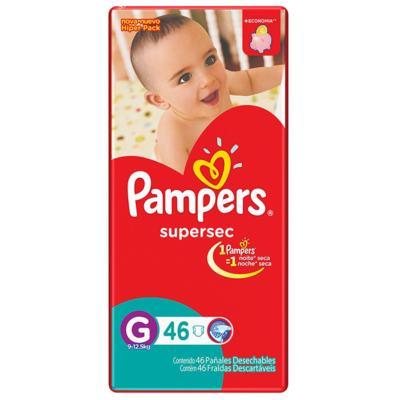 Fralda Pampers Supersec - G | 46 unidades