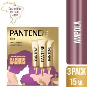 Ampola Pantene - Unidas pelos Cachos | 45 ml | Pack 3 Unidades