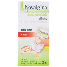 Novalgina Gotas - 500mg/ml | 20ml (caixa com 16 frascos)
