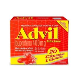 Advil Extra Alívio - 400mg | 20 cápsulas líquidas