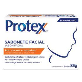 Sabonete Facial Protex - Anti cravos e espinhas | 85g