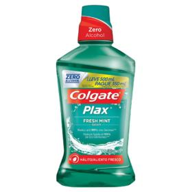 Enxaguante Bucal Colgate Plax - Fresh Mint | Leve 500ml Pague 350ml