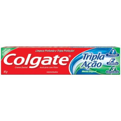Creme Dental Colgate Tripla Ação - Menta Original | 90g