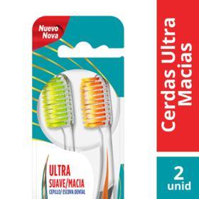 Escova Dental Colgate Slim Soft Advanced - Ultra Macia   Pack 2 Unidades